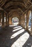 Откалывать Campden, Gloucestershire, Великобритания Выйдите Hall вышед на рынок на рынок, историческое сдобренное здание стоя в ц стоковое изображение