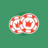 откалывает покер Концепция обломоков покера Иллюстрация покера обломоки изолировали покер Стоковое Изображение