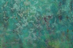 Откалыванная краска на старой предпосылке текстуры бетонной стены Стоковое Фото