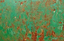 Откалыванный Grunge металл краски ржавый текстурированный Стоковые Изображения