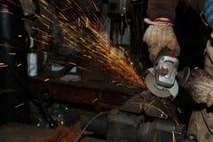 откалывать поворачивать инструментов електричюеского инструмента машины Стоковая Фотография