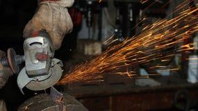 откалывать поворачивать инструментов електричюеского инструмента машины Стоковые Фото
