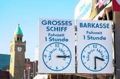 Отклонение - Landungsbruecken - Гамбург Стоковое фото RF