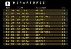 отклонения Индия авиапорта иллюстрация штока