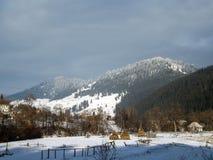 Отключение горы в Vatra Dornei Стоковое фото RF