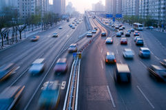 отключение движения автомобилей Стоковое Фото