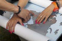 Отключение людей планируя стоковое изображение