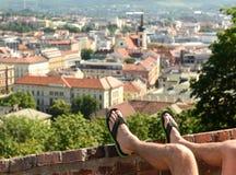 Отключение туристов, старый город, Европа, Стоковая Фотография RF