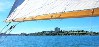 Отключение яхты Мейна США положения Портленда стоковое изображение rf