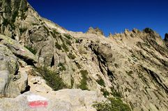 отключение montains Корсики Стоковая Фотография RF