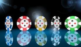Отколите, игра казино, королевские игры, иллюстрация Стоковые Фото