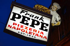 Откровенная пиццерия ` s Pepe, New Haven, Коннектикут Стоковые Фотографии RF
