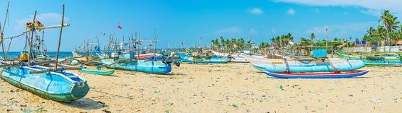 Откройте гавань рыбозавода Kumarakanda стоковая фотография