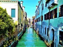 Откройте город Венеции, Италию Увлекательность, уникальность и волшеб стоковое изображение rf