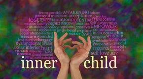Откройте и выучите полюбить вашего внутреннего ребенка Стоковые Фото