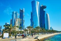 Откройте современную Доху, Катар стоковые фото