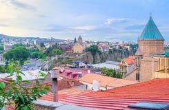 Откройте холм Sololaki в Тбилиси стоковые фотографии rf