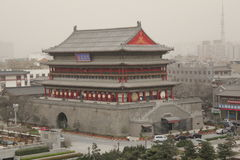 Открывать Китай: Башня барабанчика Xian стоковые фото