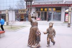 Открывать Китай: Большая одичалая улица пагоды гусыни Стоковые Фото