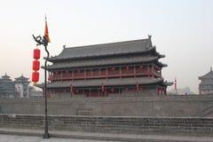 Открывать Китай: Стена древнего города Xian Стоковые Фото