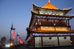 Открывать Китай: Стена древнего города Xian Стоковые Изображения RF