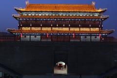 Открывать Китай: Стена древнего города Xian Стоковое Изображение RF