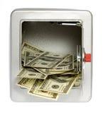 открынный сейф доллара 100 billsout открытый Стоковая Фотография