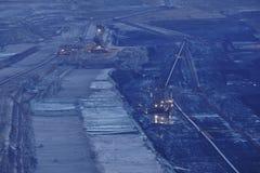 Открытая разработка Hambach мягкого угля (Германия) - роторный экскаватор Стоковое Изображение RF