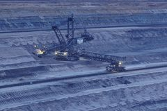 Открытая разработка Hambach мягкого угля (Германия) - роторный экскаватор Стоковое Фото