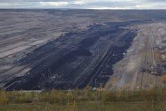 Открытая разработка Hambach мягкого угля (Германия) Стоковые Фотографии RF