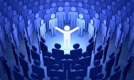 Открытие мира (символические диаграммы людей) Стоковое Изображение