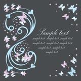 открытка бабочек Стоковое фото RF