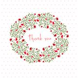 Открытка благодарения с малыми цветками Стоковое фото RF