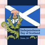 Открытка вектора к Дню независимости Шотландии Стоковая Фотография RF