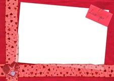 открытка влюбленности вы Стоковое фото RF