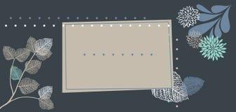 открытка голубого серого цвета Стоковые Фото