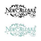 Открытка года сбора винограда Нового Орлеана искусства слова Стоковые Изображения RF