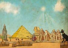Открытка Египта Стоковые Фотографии RF