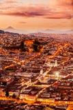 Открытка Кито эквадора стоковые фотографии rf