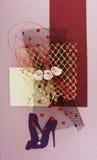 открытка конструкции Стоковые Фото
