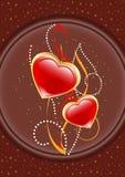 открытка любовников Стоковое Фото