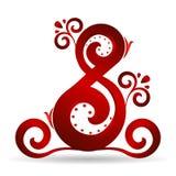 Открытка начиная с 8-ого марта 8 в форме орнамента Стоковые Изображения RF