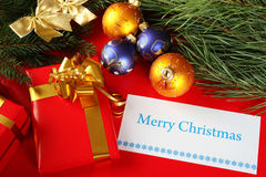 Открытка на рождество или Новый Год Стоковое Изображение