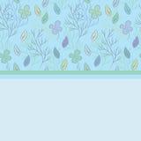 Открытка на теме листьев Стоковая Фотография RF
