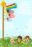 Открытка дня детей Стоковое фото RF