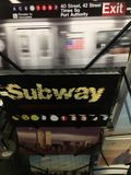 Открытка от подземного Нью-Йорка стоковая фотография rf
