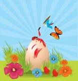 открытка пасхи иллюстрация штока