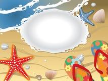 открытка пляжа Стоковое Изображение