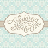 Приглашение венчания с абстрактной флористической предпосылкой Стоковое Изображение