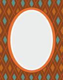 Открытка, рамка, коричневый цвет, косоугольники, геометрия, цвет, плоский Иллюстрация штока
